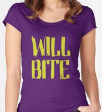 Will Bite Women's Fitted Scoop T-Shirt