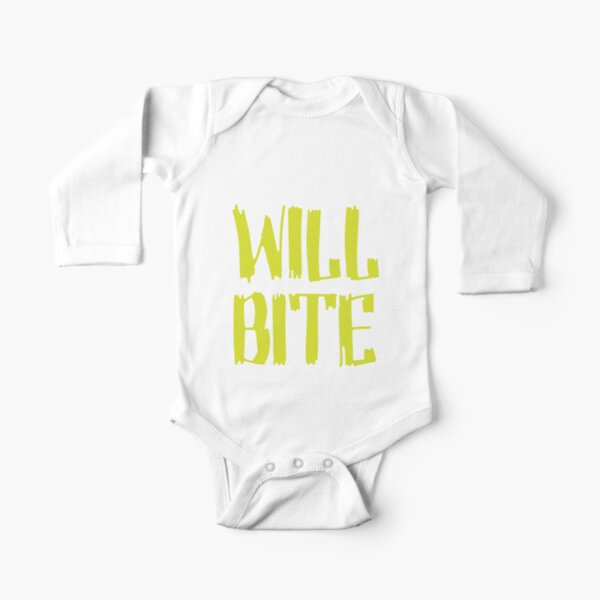 Will Bite Long Sleeve Baby One-Piece