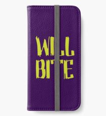 Will Bite iPhone Wallet/Case/Skin