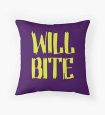 Will Bite Throw Pillow