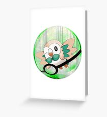 Rowlet Greeting Card