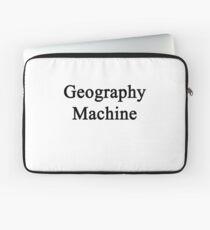Geography Machine  Laptop Sleeve