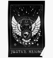 Pharah Justice Reigns Tarot Card Poster
