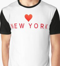 New York with Heart Love Graphic T-Shirt