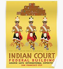 Vintage poster - Indian Court Federal Building Poster