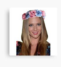 AJ Cook with flower crown Canvas Print