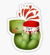Creeper TNT Love Sticker