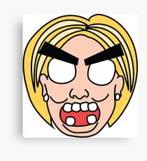 angry zombie hillary Canvas Print
