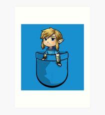 Pocket Link BOTW Zelda Art Print
