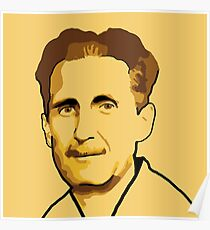 George Orwell Digital Art: Posters | Redbubble