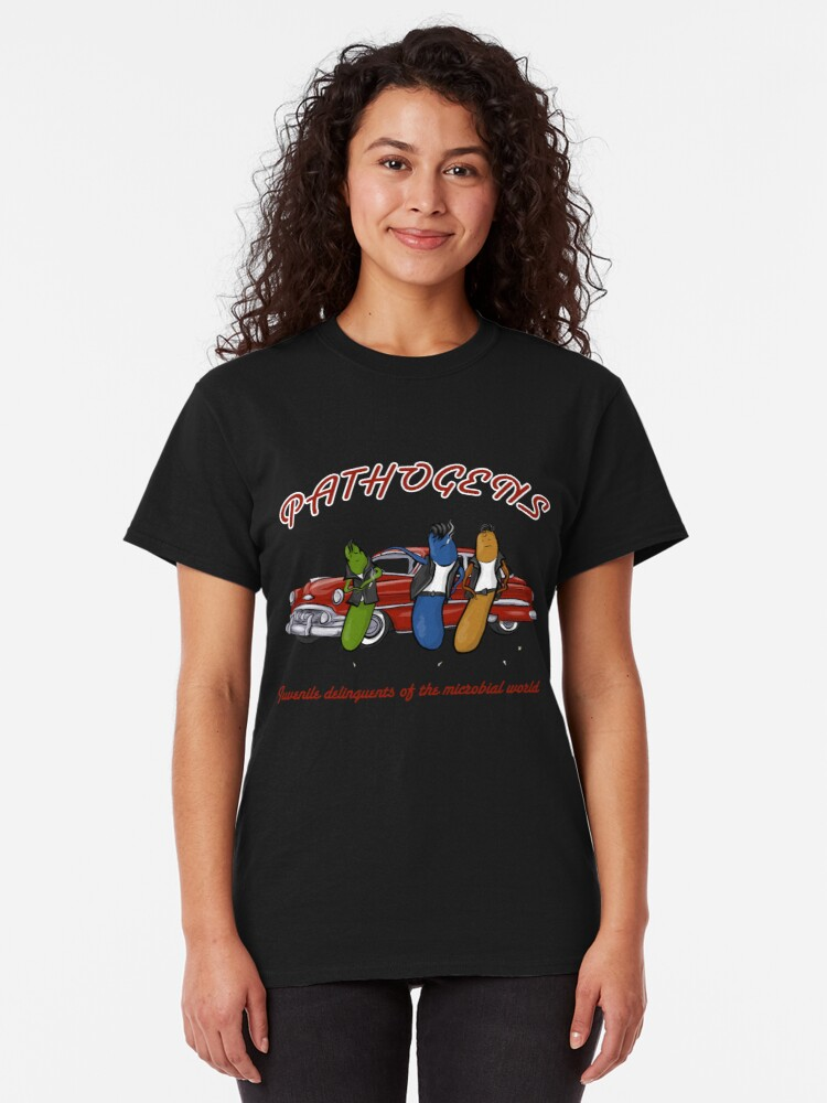 Alternate view of Greaser Pathogens Classic T-Shirt