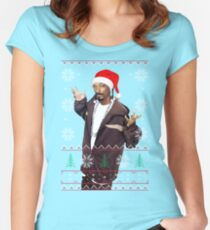 Snoop Christmas Women's Fitted Scoop T-Shirt