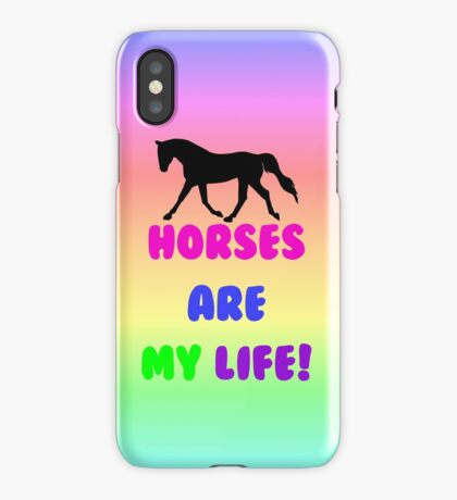 Colorful Horses Are My Life  iPhone Case