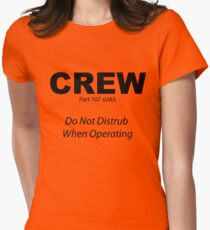 Crew Safety Warning Women's Fitted T-Shirt