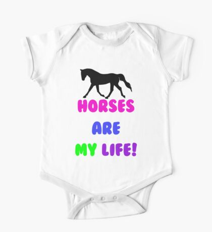 Colorful Horses Are My Life  Kids Clothes
