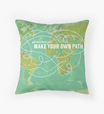 Make Your Own Path Throw Pillow