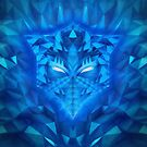 Deep Ice Blue - Sub Zero Transformers Wolf Mask Portait  by badbugs