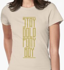 STAY GOLD PONYBOY Women's Fitted T-Shirt