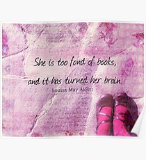 LITERARY BOOK QUOTE Louisa May Alcott  Poster