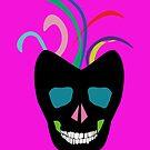 Funky Bright Sugar Skull by Melissa Park