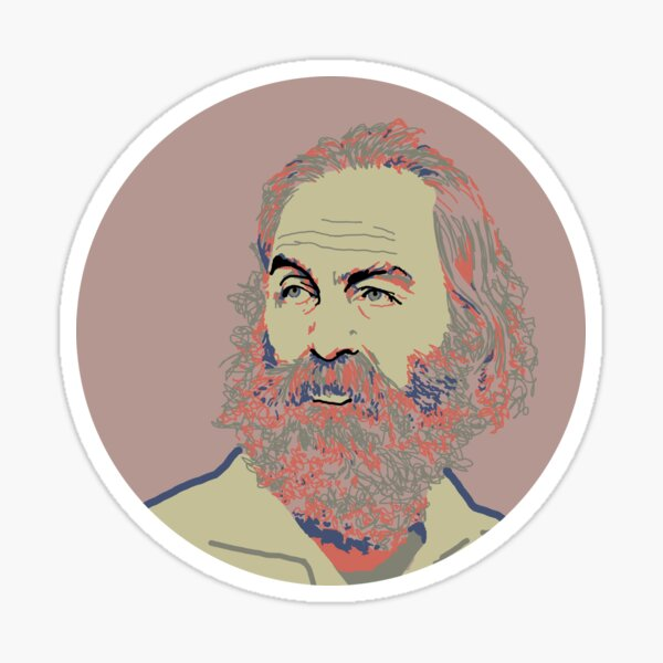Walt Whitman Portrait Sticker