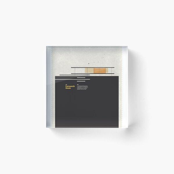 Farnsworth Modern House Acrylic Block