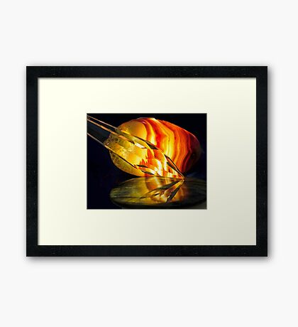 Fire in the Stones Framed Print