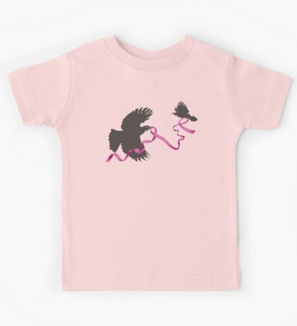 Flying Tui with Pink Ribbon Kids Clothes