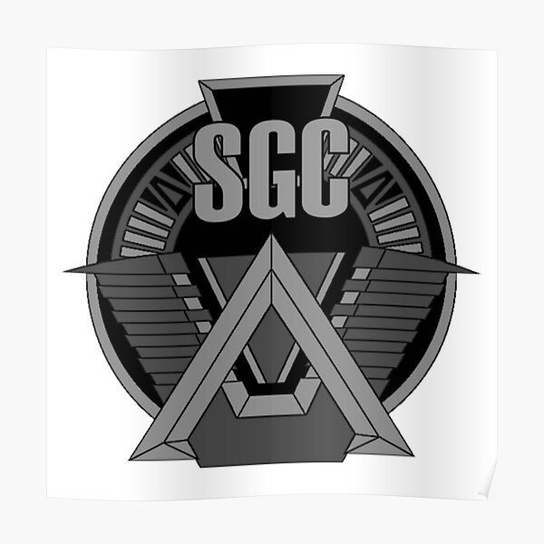 Insigne de commandement Stargate SGC. Poster