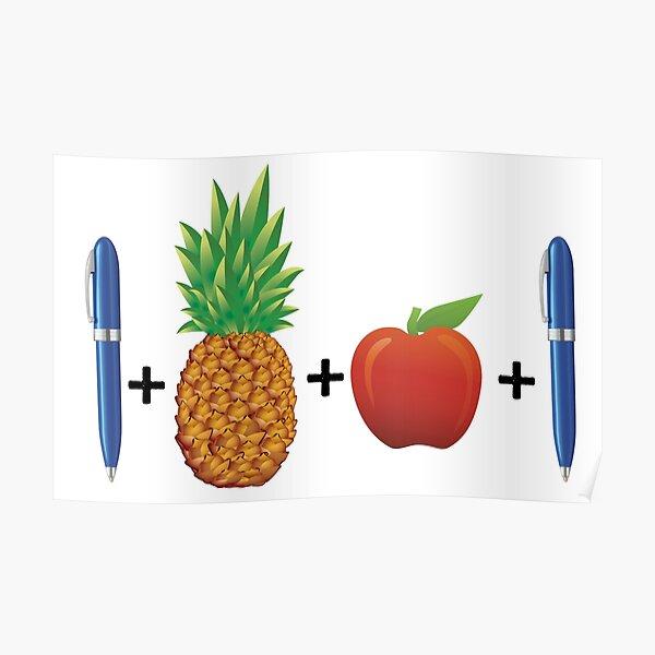Pen Pineapple Apple Pen PPAP S Poster