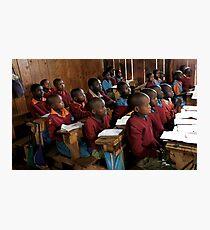Kenyan Schoolroom  Photographic Print