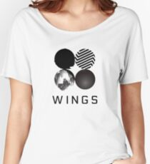 BTS Wings [White] Women's Relaxed Fit T-Shirt