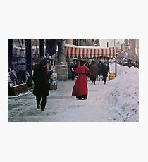 Woman in red Photographic Print