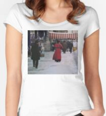 Woman in red Fitted Scoop T-Shirt