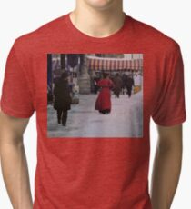 Woman in red Tri-blend T-Shirt