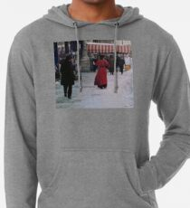 Woman in red Lightweight Hoodie