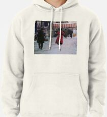 Woman in red Pullover Hoodie