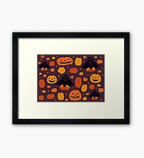 Fall Pumpkaboo Pumpkin Patch Framed Print