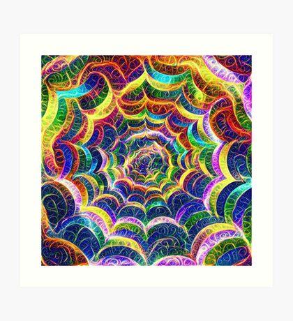 Spider web #DeepDream B Art Print