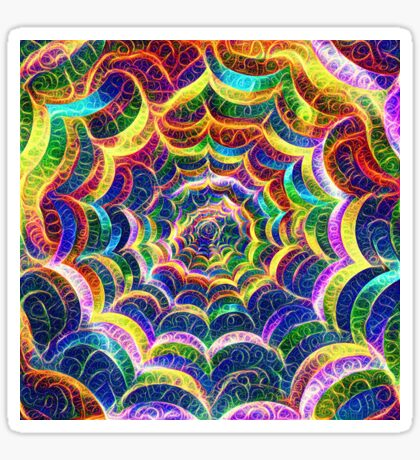 Spider web #DeepDream B Sticker