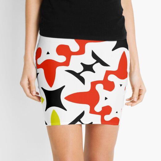 Abstract Artwork Mini Skirt
