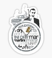 Martini Dry recipe Sticker