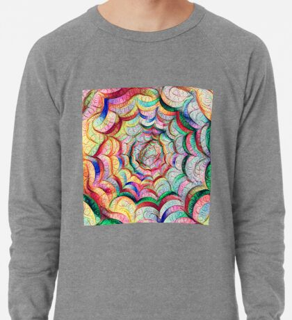 Spider web #DeepDream C Lightweight Sweatshirt