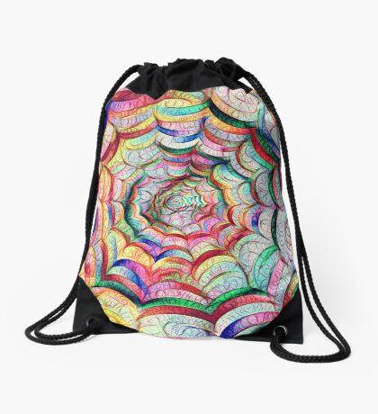 Spider web #DeepDream C Drawstring Bag
