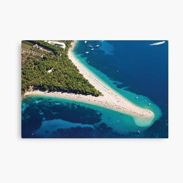 Island of Brac, Bol beach, Croatia, Europe Canvas Print