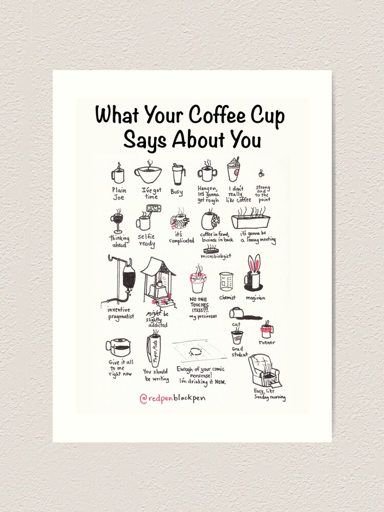 Alternate view of What Your Coffee Cup Says About You Art Print