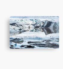 Hoffelsjokul Glacier, Hofn, Iceland Metal Print
