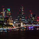 London Skyline from Waterloo Bridge by Cliff Williams