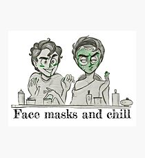 Face Masks and Chill Photographic Print