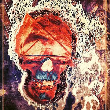 Fiery Skull by LouiseEbreyHill
